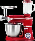 Royalty Line PKM-1900.7BG; Robot de cuisine 3 en 1 avec 1900 watts max Rouge