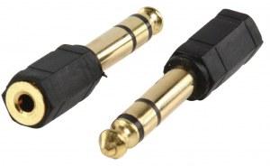 Adaptateur jack 6.35 mm mâle vers jack 3.5 mm stéréo femelle (plaqué or)