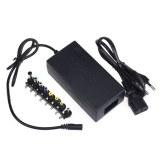 Adaptateur universel pour ordinateur portable 100W + câble Tripolaire 1M noir
