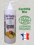 GEL DOUCHE BIO AUX AGRUMES - Tonique et Stimulant - 500 ML - Certifié bio COSMOS ECOCER...