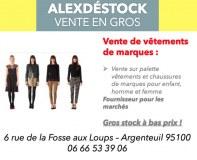 Destockage - Lots de vêtements de marques à prix cassé