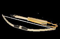 Arc en bois et fleches ou pointes