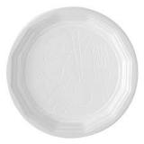 100 Assiettes rondes blanches plastique 20cm