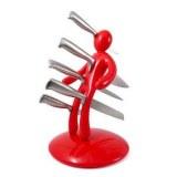 Set Couteaux Porte Couteaux Voodoo (rouge ou noir)