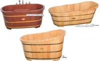 Baignoire en bois en déstockage-Quantité limité
