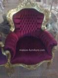 Fauteuil Baroque- reproduction de meubles français antique