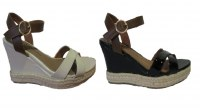 Destockage de sandales compensées pour femmes