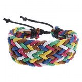 Bracelet cordelettes multicolors fantaisie