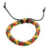 Bracelet corde en cuir multicolor. style fantaisie