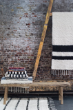 Lot de tapis tissés artisanaux, coton recyclé, toute taille, fabrication Espagne