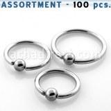 Grossiste Body Piercing Acier 316L Anneau Captif