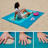 SHOP-STORY - SAND FREE MAT BLUE : Serviette de Plage Drap Anti-Sable avec Crochet - 150...