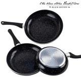 Poêles Revêtement Pierre Black Stone Pan (3 pièces)