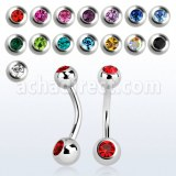 Grossiste Piercing Acier Chirurgical Banane Nombril
