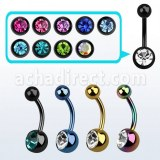 Grossiste Piercing PVD Acier Chirurgical Banane Nombril