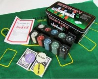 Boites 200 Jetons numérotés poker pro Texas holdem + Tapis vert NEUF