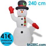Bonhomme de neige 240cm LIVRAISON GRATUITE