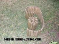 Bordure de gazon en bois