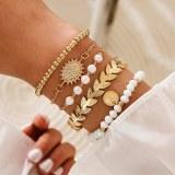 SHOP-STORY - SELENA BRACELET : Ensemble de 5 Bracelets Bohème Chic