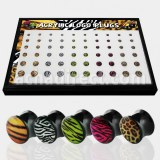 Grossiste Body Piercing Noir Acrylique Plugs