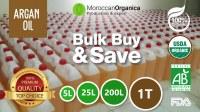 100% pure and certified organic Argan Oil in Bulk