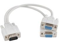 Adaptateur répartiteur de 15 broches mâle/2 femelle Splitter S de répartiteur VGA Câble Y