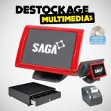 Pack Caisse Enregistreuse Tactile Saga SGS-150-RT tous commerces Avec Logiciel NF 525