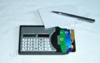 Calculatrice Solaire porte cartes - Stylo