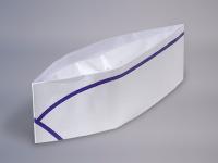 Boite de 100 calots en papier liseret bleu
