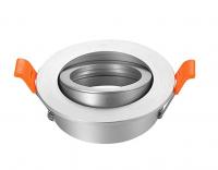 Spot rond encastrable Aluminium brossé