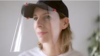 Visière d'hygiène clipsable avec casquette