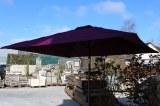 Parasol Pyramid aubergine carré de Fabrication Hédone Réf : PC11A5Q1