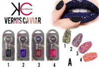 Destockage de vernis caviar, velour, sugar