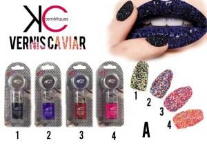 Destockage de vernis caviar, velour, sugar