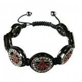 Tres beau bracelet en strass peace and love