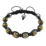 Tres beau bracelet Jamaique, compose de 8 boules de crystal