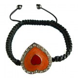 Bracelet en forme de coeur,crystaux et nacre