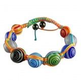 Bracelet fantaisie en verrre et multicolore