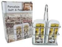 Saliére et Poivriére Paris avec support en fer dans un coffret cadeaux