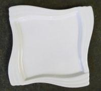 Assiette grande céramique blanche
