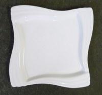 Assiette moyenne céramique blanche