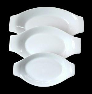 Set de 3 plats ovales en porcelaine