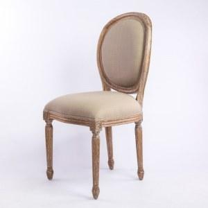 Chaise médaillon cérusée