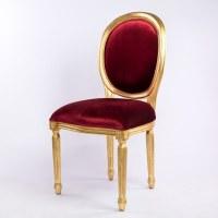 Chaise médaillon rouge