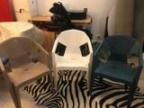 Lot de chaise 5 couleurs en plastique intérieur et extérieur