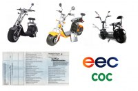 KIREST Grossiste vente en lot Citycoco caigies Scooters électriques Trottinettes City...