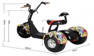 Scooter électrique Citycoco 3 roue 1500w 60v 12Ah