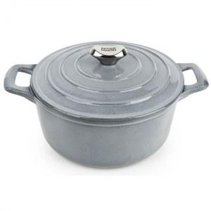 Cocotte En Fonte Ronde - 24 cm - grise - Tous feux dont induction ARTHUR MARTIN