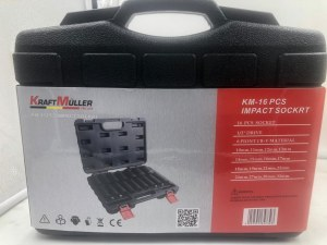 KRAFTMULLER,coffret,Jeu de douilles à impact profond, 1/2-inch Drive, métrique, Cr-V,...