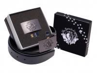Boucle de ceinture avec clé USB 4Go intégrée + ceinture + Coffret Cadeau